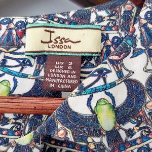 Issa London Dresses - RARE Issa London Silk Bell Sleeve Egypt Mod Dress